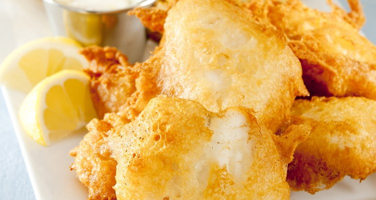 English fish-and-chips cod batter is light and fluffy.