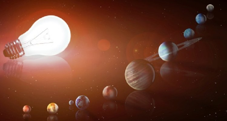 A solar system mobile will have several celestial bodies of varying sizes.