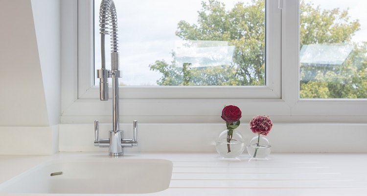 Remove ugly rust stains from your white ceramic sink unit.
