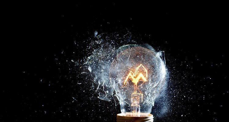 A light bulb can explode for several reasons.