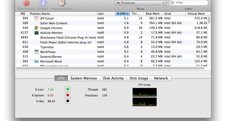 """O """"Monitor de Atividades"""" mostra tudo o que está atualmente em execução no seu Mac"""