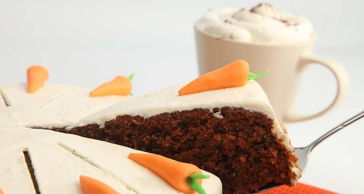Carrot cake can be made using pre-grated carrots, or by grating the carrots in a food processor.