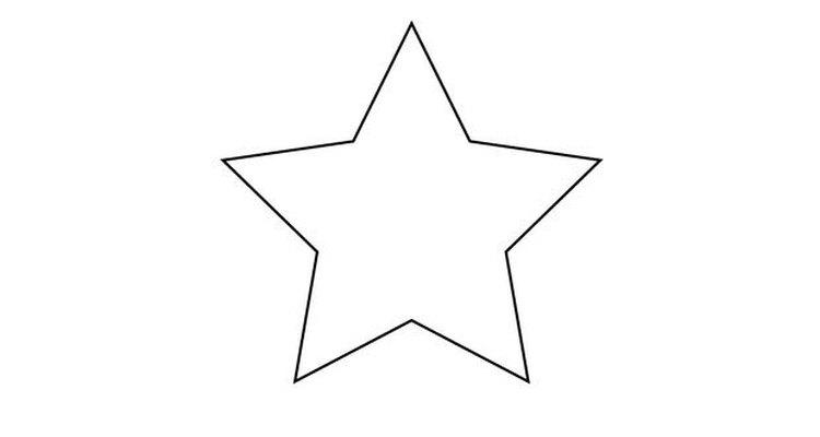 Desenhe uma estrela de cinco pontas