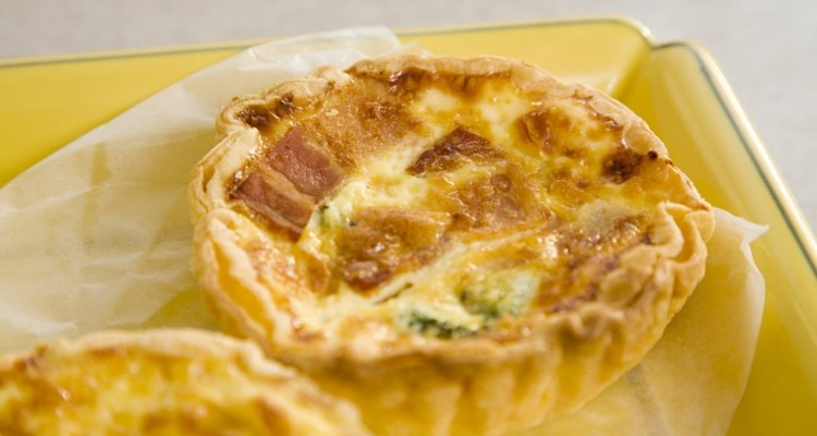 Keep your quiche covered after heating.
