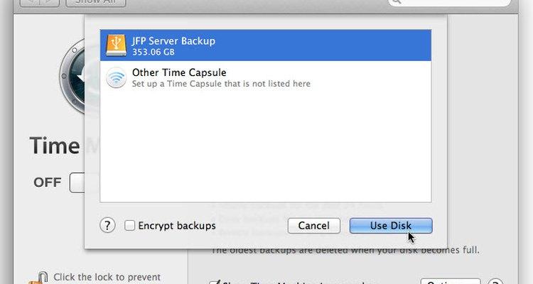 Selecione a opção de backup desejada na lista que aparece
