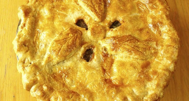 Traditional steak pies often make use of tougher cuts of meat.
