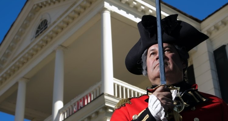 In the 18th century, many British infantry regiments wore red or scarlet coats.