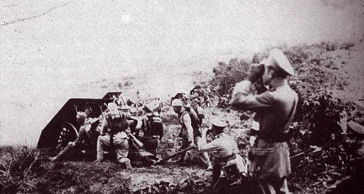 Imagen de la guerra entre Perú y Colombia perteneciente a la Armada Colombiana.