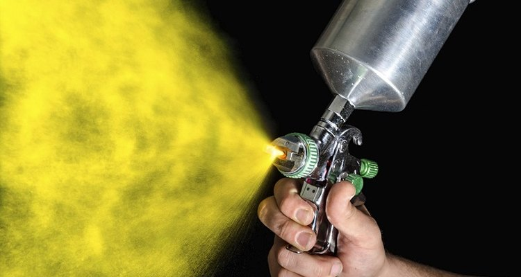 Use specialist spray paint to touch-up powder-coated surfaces.