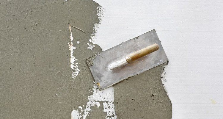 Plasterboard sheeting has all but replaced wet plastering in new buildings.