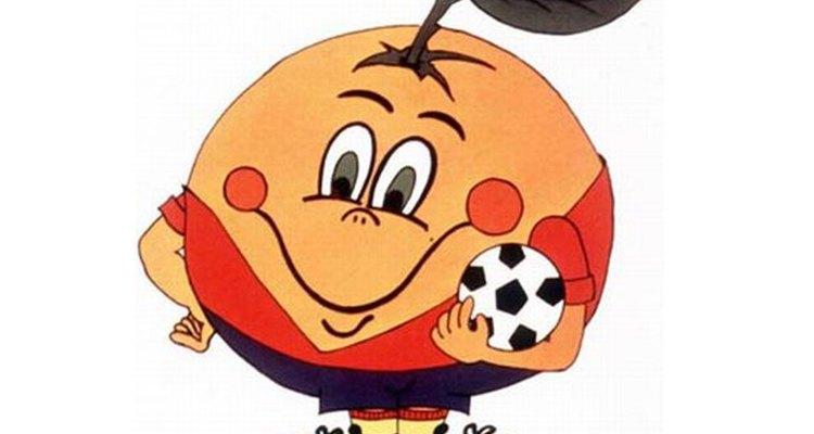A Espanha escolheu uma laranja sorridente como mascote do seu mundial realizado em 1982