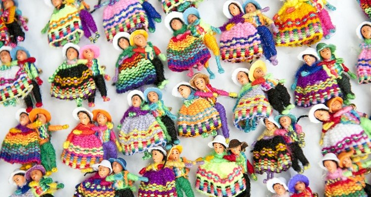 Worry dolls are a traditional children's toy in Guatemala.