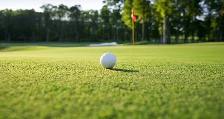 Get a perfect playing surface on your golf green with careful mowing.