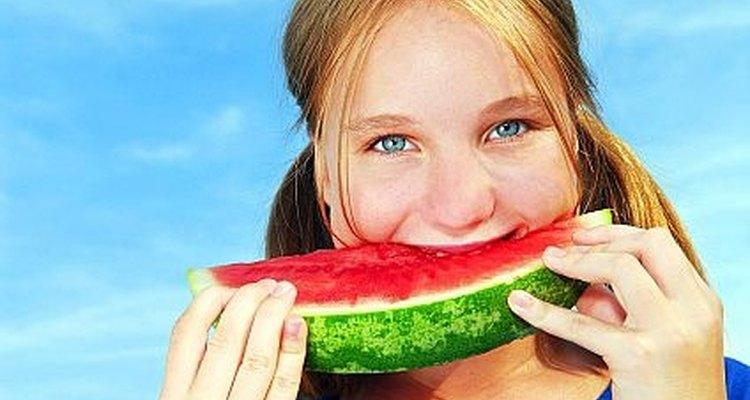 Colhendo melancias