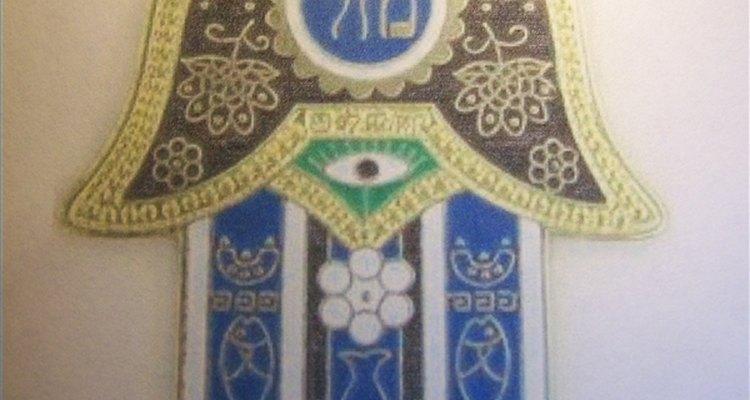 Este amuleto hamsa es de Jerusalén.