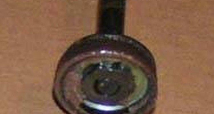 Um pistão de uma bomba de quadro