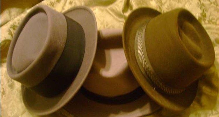 Chapéus de feltro são relativamente fáceis de moldar