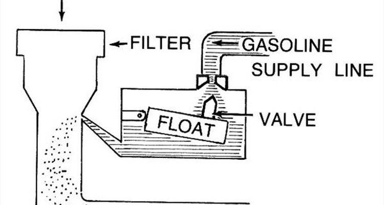 Desenho de um carburador