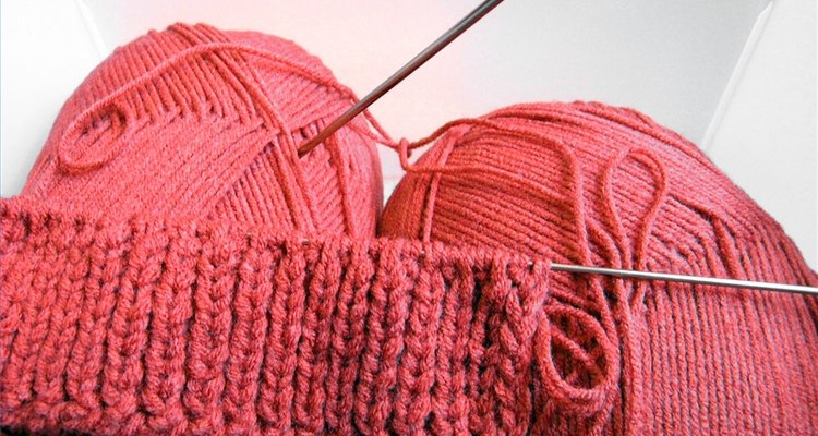 Faça polainas usando apenas os pontos meia e tricô