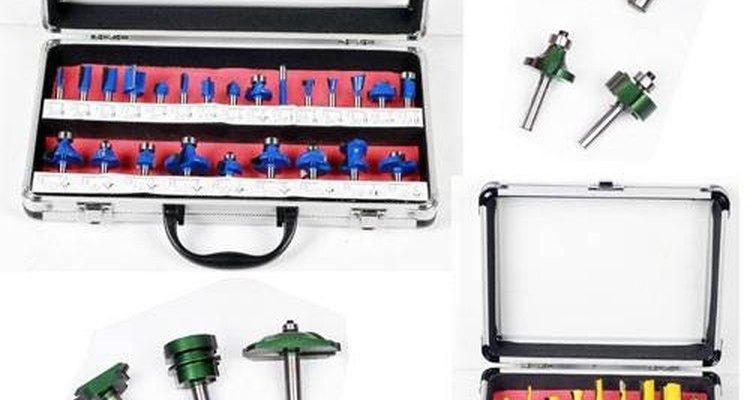 Las brocas enrutadoras se pueden usar con un taladro en aplicaciones limitadas.
