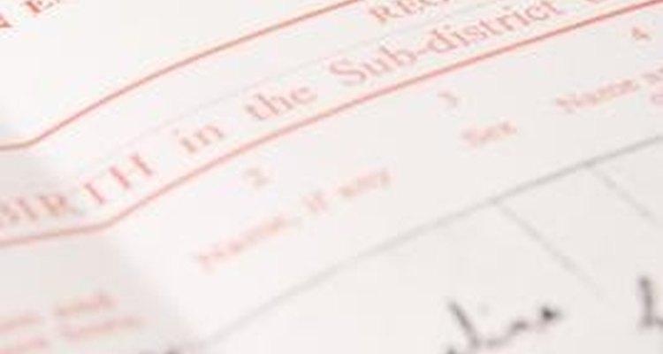 Tu certificado de nacimiento es el primer lugar donde tu nombre está registrado.