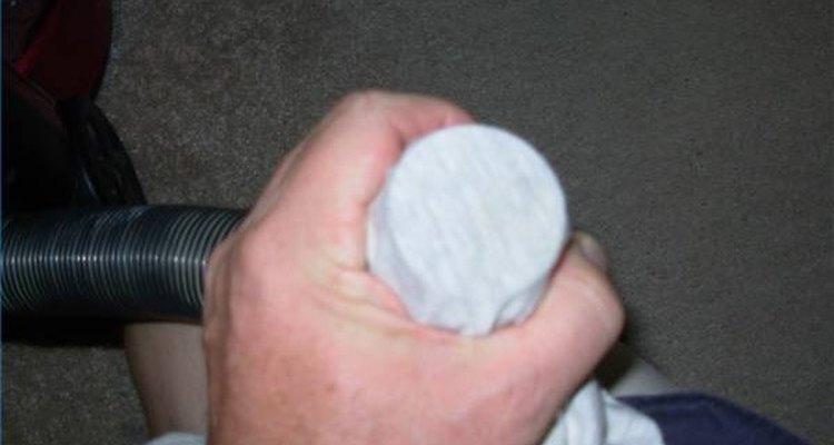 Barreira feita com meia de náilon