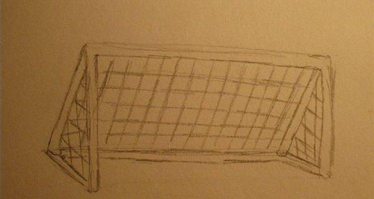 Desenhando um gol de futebol