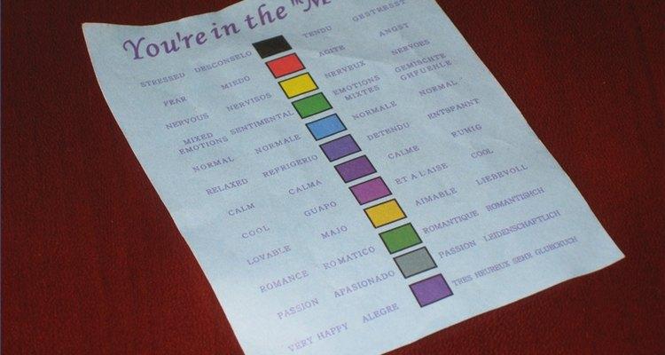 Los anillos vienen con un gráfico que revela el significado de cada color de la joya.