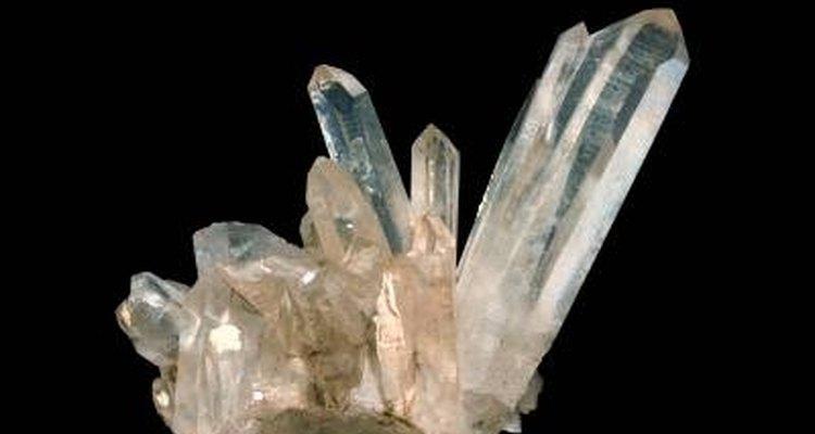 Aglomerado de cristais de quartzo