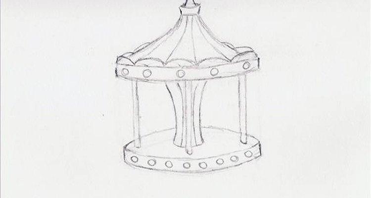 Faça círculos nas bordas da frente da parte inferior e da superior para representar as luzes