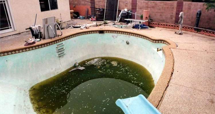 El cloro se utiliza para eliminar las bacterias de una piscina.