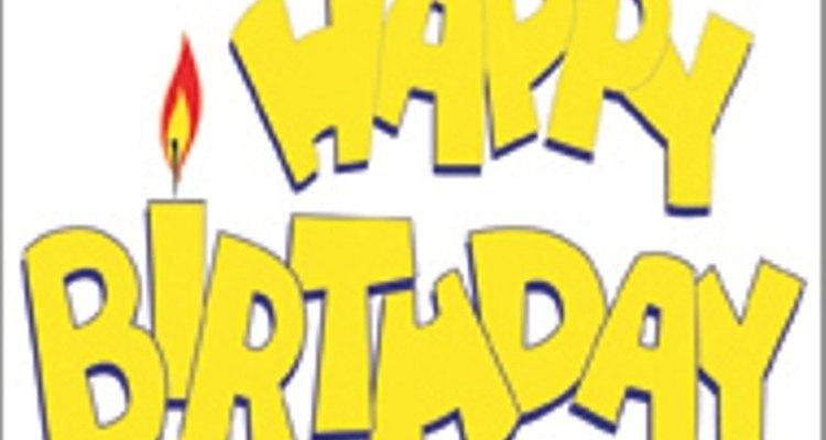 Haz originales letreros de cumpleaños.