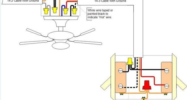 Ventilador con dos interruptores (uno para el ventilador y el otro para la luz adjunta).