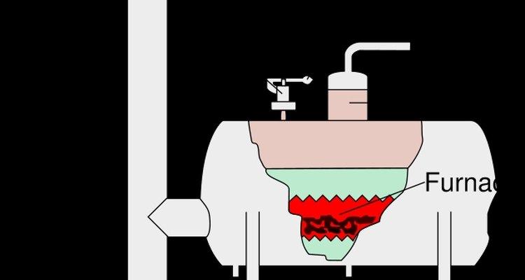 Diagrama de uma caldeira a vapor