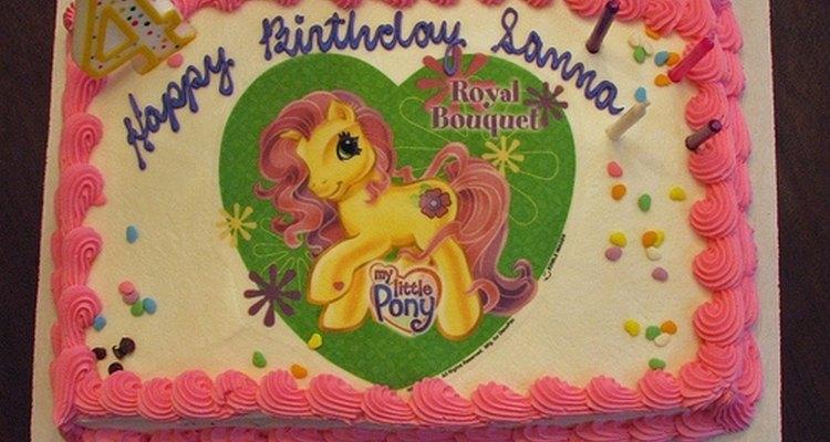 Para uma criança, pode-se também levar uma imagem de um cavalo de desenhos animados