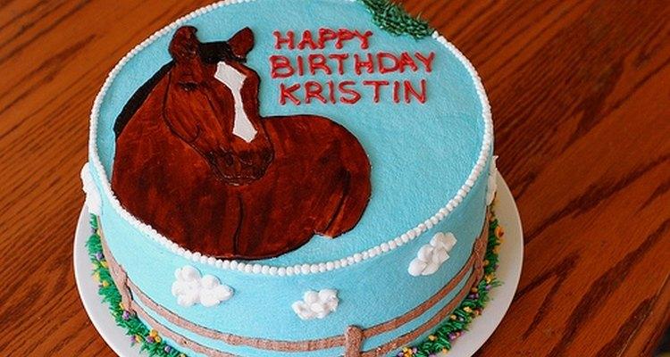 Bolo de aniversário para apaixonados por cavalos