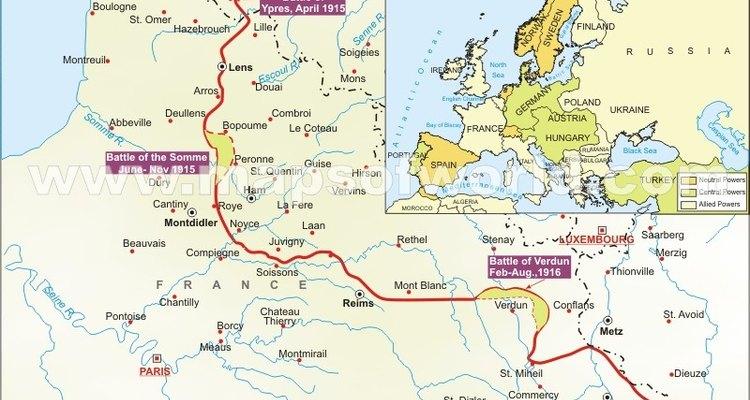 La Primera Guerra Mundial cambió el mapa de Europa de principios del siglo XX.
