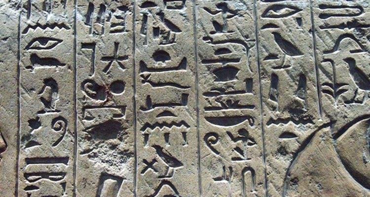 Jeroglíficos egipcios.
