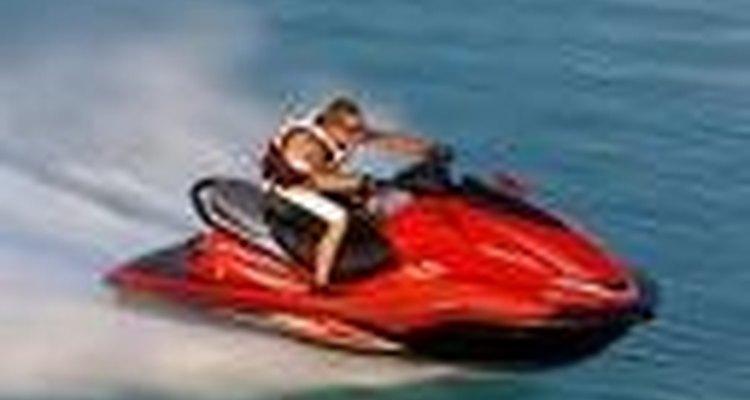 "Um ""jet ski"" em plena velocidade"