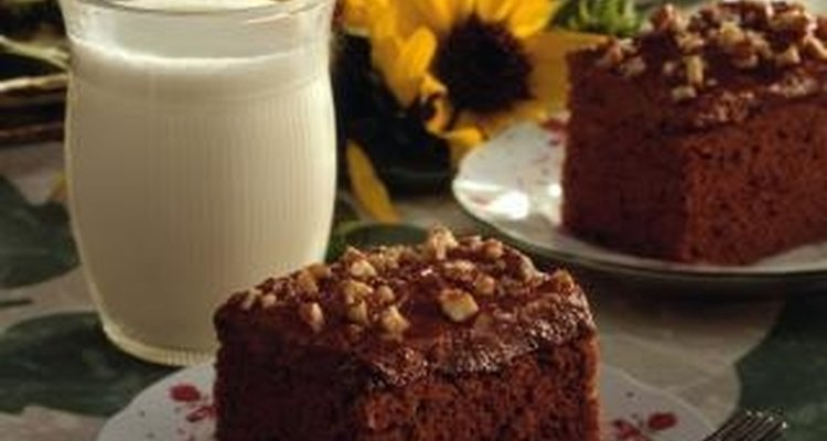 Enjoy a piece of super moist chocolate cake alone or with ice cream.