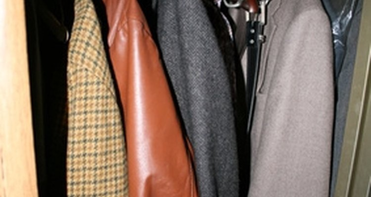 Protect your leather jacket before storage.