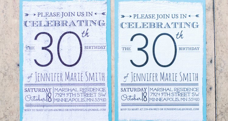 Fabric covered invitations