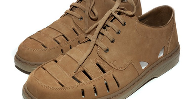 brown shoes isolated