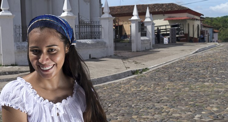Latin american girl giving a smile for the camera