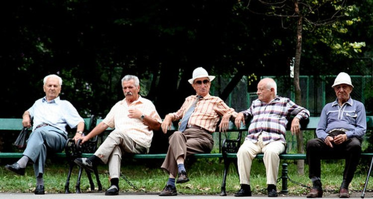 A group of citizens enjoying their retirement years.