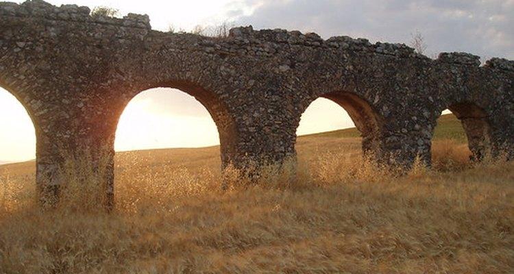 Alguns aquedutos romanos ainda são usados