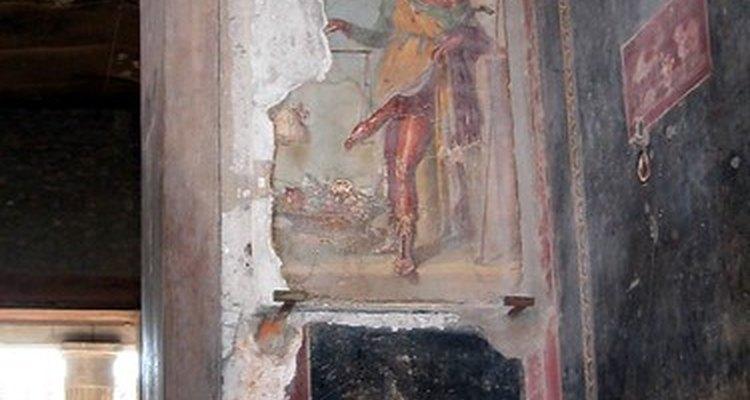Os afrescos e murais nas paredes de Pompeia e  Herculano tem dado pistas a historiadores da arte de como  devem ter sido as pinturas romanas