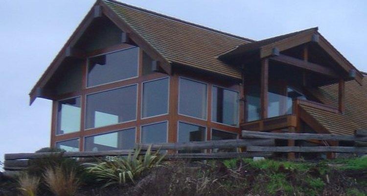 Casa con estructura de madera.