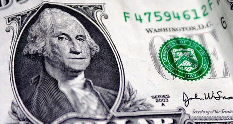George Washington en el billete de dólar.