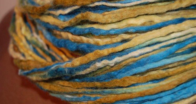 Las fibras de los flecos.